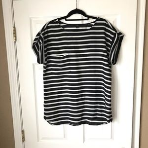 Ann Taylor stripe pocket blouse